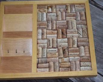 Mail Sorter/Bulletin Board/Message Center/Organization/Wine Cork Art
