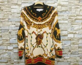 Vintage 90's Eagles Eye Sweater Knitwear Wool Sweatshirt The Eagle's Eye Small