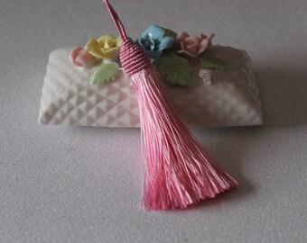 1 tassel fringe - home - pink tassel length 14 cm