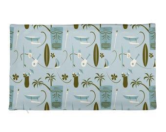 Retro Hawaiian Rectangular Pillow cover - COVER ONLY - Tiki Mask - Surfing - PillowRectangular Pillow Case only