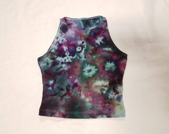 Funky Tie Dye Ladies Crop Top size Extra Small W447
