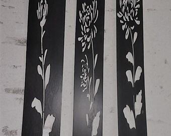 Metal Wall Art - Interior or Exterior - Chrysanthemum Range Unique One off Design
