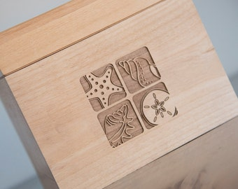 Personalized Recipe Box - Life is a Beach