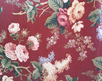 Brianna - Crimson - Waverly Fabric - Sold by the Yard - 100% Cotton