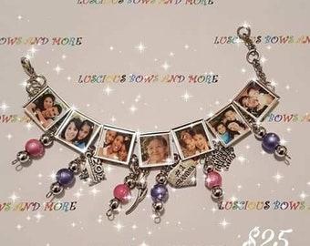 Picture Bracelet, Photo Bracelet, Personalized Bracelet, Customized Bracelet, Charm Bracelet