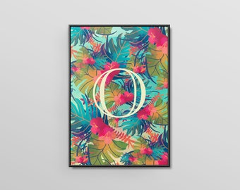 Personalised Monogram (Initialed) Typographical Printed Poster