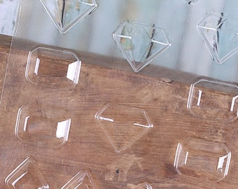 Jewels Chocolate Molds, Faceted Jewel Candy Molds, Gem Candy Molds, Gems Chocolate Candy Molds, Diamond Candy Molds, Jewels Mould