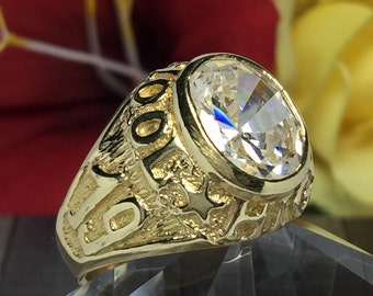 BIG 14k solid gold Men's class of 97 ring