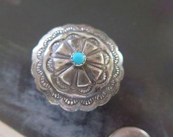 Vintage Navajo RTT Sterling Silver Turquoise Trinket Box