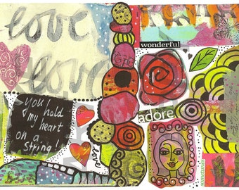 Collage sheet, journal sheet, collage material, digital download, nr. AJ 19
