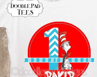 Dr Seuss Birthday Shirt, Cat in the Hat Shirt