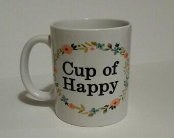 Cup of Happy, coffee mug, .