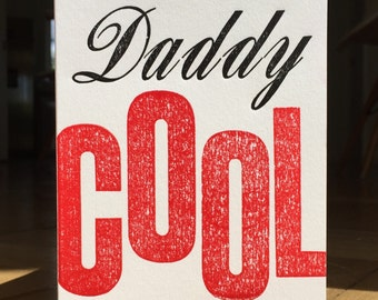 Daddy Cool Letterpress Father's Day Card