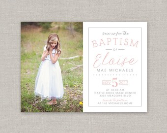 LDS Baptism Invitation - Eloise