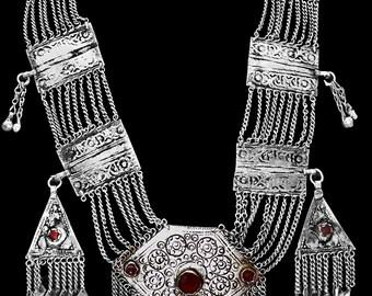 Fabulous Vintage Turkmen Multi-Chain Necklace