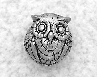 Green Girl Studios Pewter Double Owl Pewter Bead