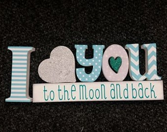 I love you to the moon and back craft