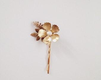 Corrine flower hairpin, small size #1305b