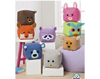 Simplicity Pattern 8485 Stuffed Cube Animals