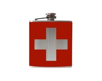 1st Aid FLASK- whiskey medicine - Personalized, Custom - YOU pick COLOR