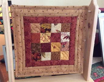 Unfinished Mini Quilt Hanger with Dowel (Mini Quilt not included)