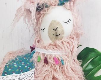 Plush stuffed llama