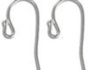 Silver plated ear wires (10 pair)