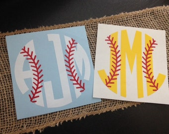 Baseball/ Softball Monograms