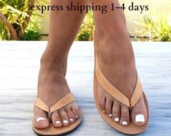 REA sandals/ ancient Greek leather sandals/ thong sandals/ roman sandals/ flip flops/ classic leather sandals/ handmade sandals