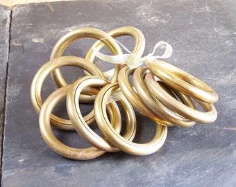 "Set of 10 curtain rings  Inside diameter 2"" vintage Made in France"