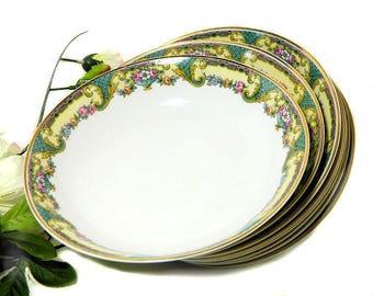 Eight Charles Ahrenfeldt Limoges Monceau Soup Bowl France