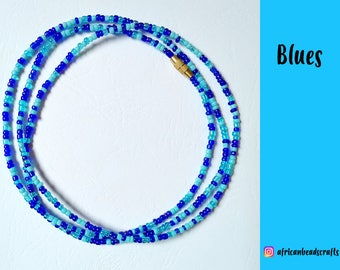 NEW!! Blues - Waist Beads - Belly Chain - Belly Beads - African Waist Beads - African jewelry