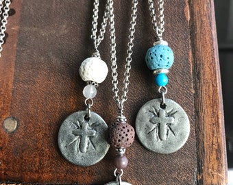 Aromatherapy Cross Token Necklace