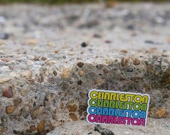 Charleston, SC Sticker, Rainbow Row