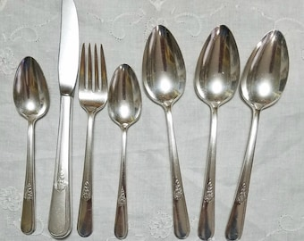 Vintage Silver Plated Holmes & Edwards Flatware Youth Pattern