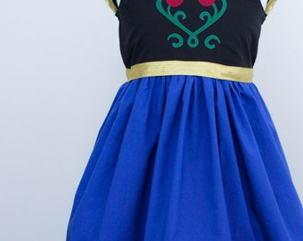 Disney Frozen Anna Inspired Practical Princess Dress Up and Play Outfit