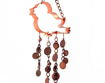 WIND CHIME Copper Bird Metal Chimes Kitchen Country Mobile Window Kitchen Garden Porch Patio Deck