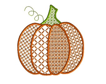 Pumpkin Motif Machine Embroidery Design-INSTANT DOWNLOAD-3 sizes
