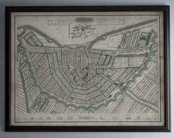 Amsterdam Map: Unframed Vintage Map of Amsterdam, Netherlands, Circa 19th C. - Weathered Map Reproduction