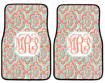 Cute Car Accessories | Moroccan Design | Car Accessories | Gift For Her |  Monogram Car Mats | Car Accessory