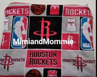 Houston Rockets zipper pouch