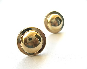 Golden Dome Stud Earrings. FAST Shipping w/Tracking Included for US Buyers. All MS Jewelry will arrive in a Gift Box w/Ribbon.