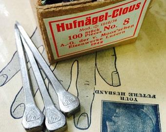 3pcs SQUARE CROSS NAILS Vintage 1942 Old Stock