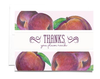 Thank You Plum Note Card