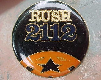 1976 RUSH 2112 Hat Pin Album Art Logo Geddy Lee Neil Pert Alex Lifeson Hard Rock Band Music Memorabilia Rare Cool Collectible Accessory Item