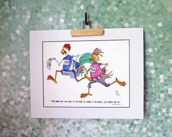 Coureur Motivation Art Print homme femme Encouragement source d'Inspiration pour aller courir être sain Mat 11 x 14