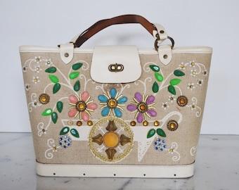Enid Collins Vintage Bag: Flower Cart