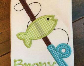 Boys Fishing Pole Shirt - You Personalize