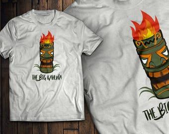 The Big Kahuna Funny Hawaiian Tiki T-Shirt