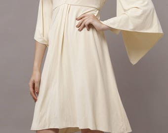 Women's Flutter  Bamboo Knit Tunic Boho Dress